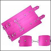 Algema em couro sintetico rosa